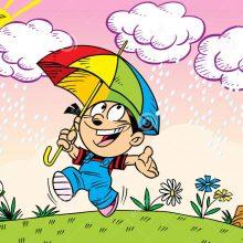 walk-under-umbrella-illustration-girl-walks-summer-rain-illustration-done-cartoon-style-separate-49023998